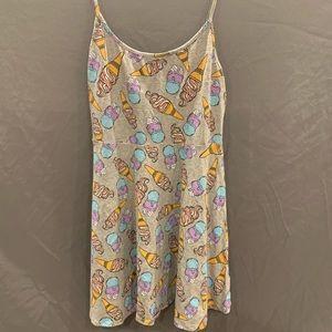 !! Ice Cream Print Skater Dress